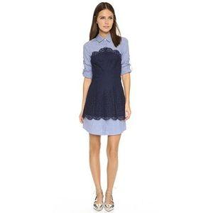 BCBGMaxAzria Kaylin Lace Shirt Dress